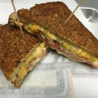 Four Cheese Green Chile Grilled Cheese